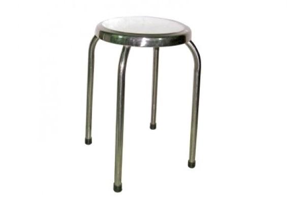 Ghế đẩu mặt tròn chân inox 304