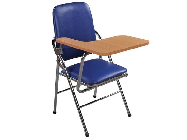 Ghế xếp có bàn viết lưng lớn làm bằng inox 304