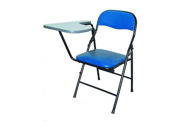 Ghế xếp inox 304 lưng nhỏ có bàn viết mini