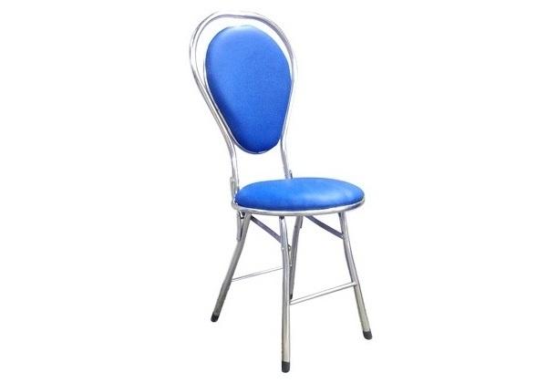 Ghế xếp inox 304 mini bọc nệm có lưng dựa hình đu đủ