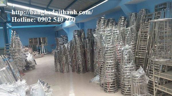 Xưởng sản xuất và làm theo yêu cầu các mặt hàng bàn ghế inox